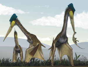 Life_restoration_of_a_group_of_giant_azhdarchids,_Quetzalcoatlus_northropi,_foraging_on_a_Cretaceous_fern_prairie