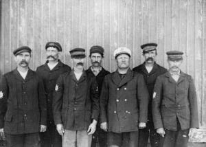 Miembros de las estación de salvamento, Kitty Hawk. 1900