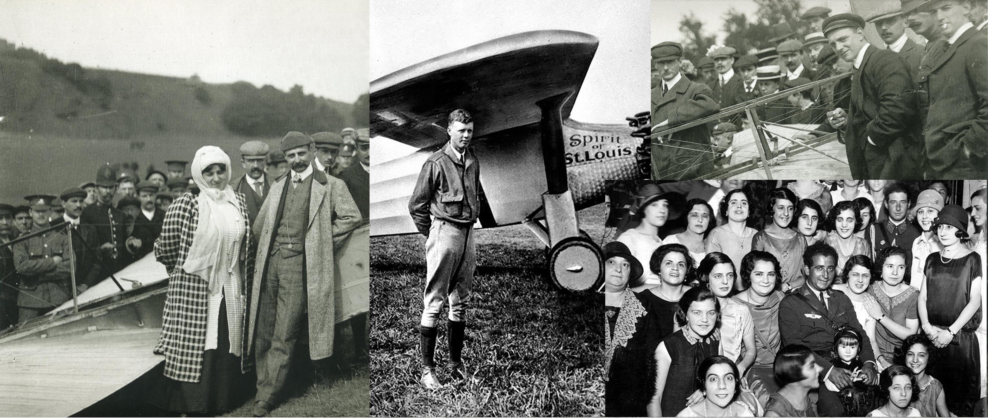 Blériot, Ramón Franco y Lindbergh