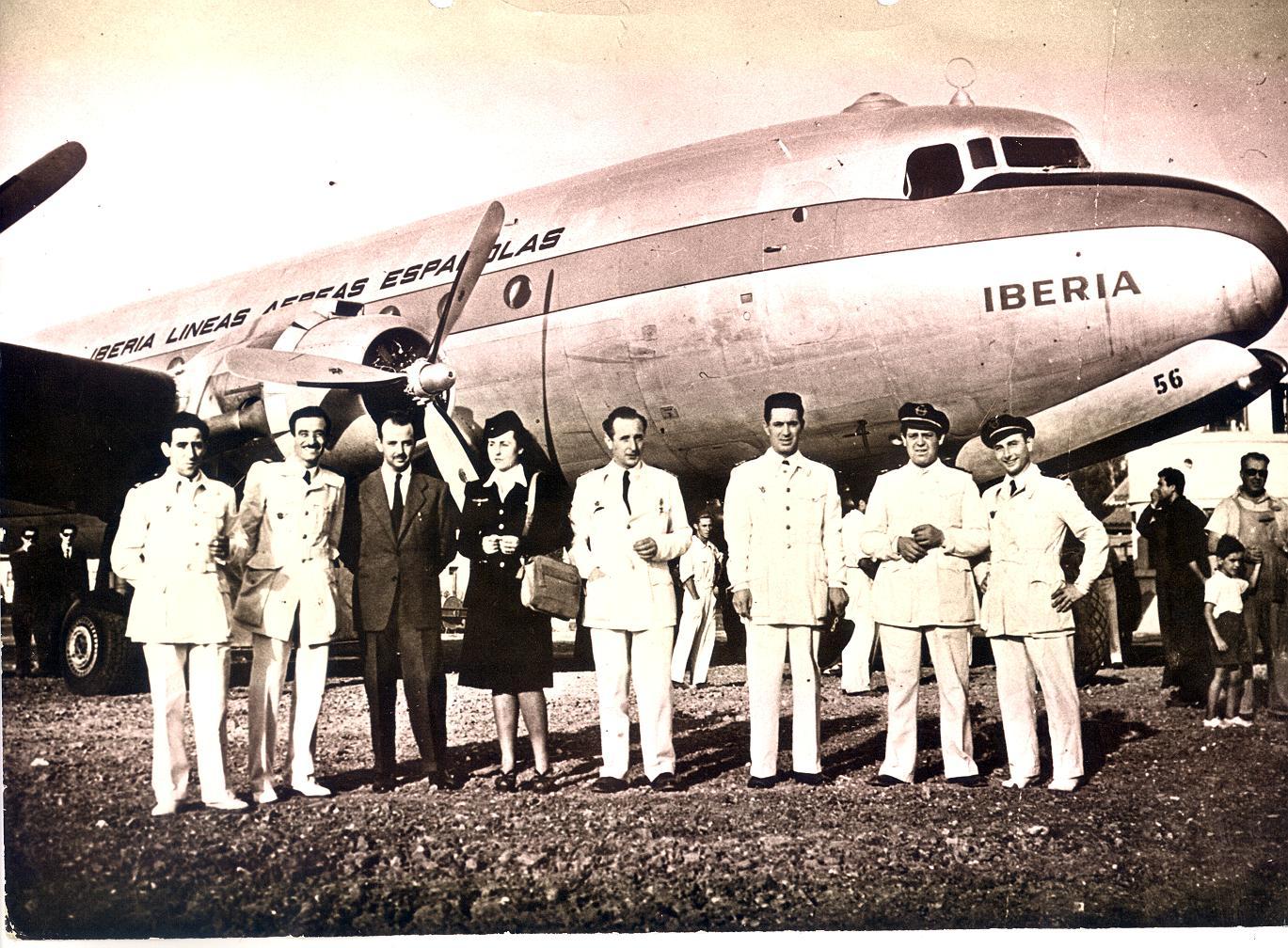 Vuelo_inaugural_Iberia_Madrid_-_Buenos_Aires_(1946)